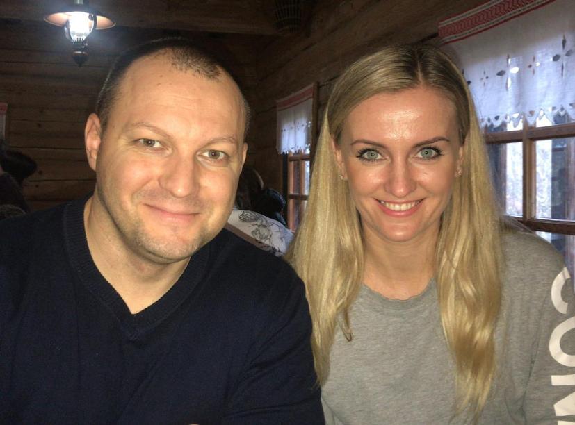 Photograph of Dima and Katya Nachyna