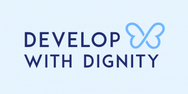 Develop with Dignity butterfly logo