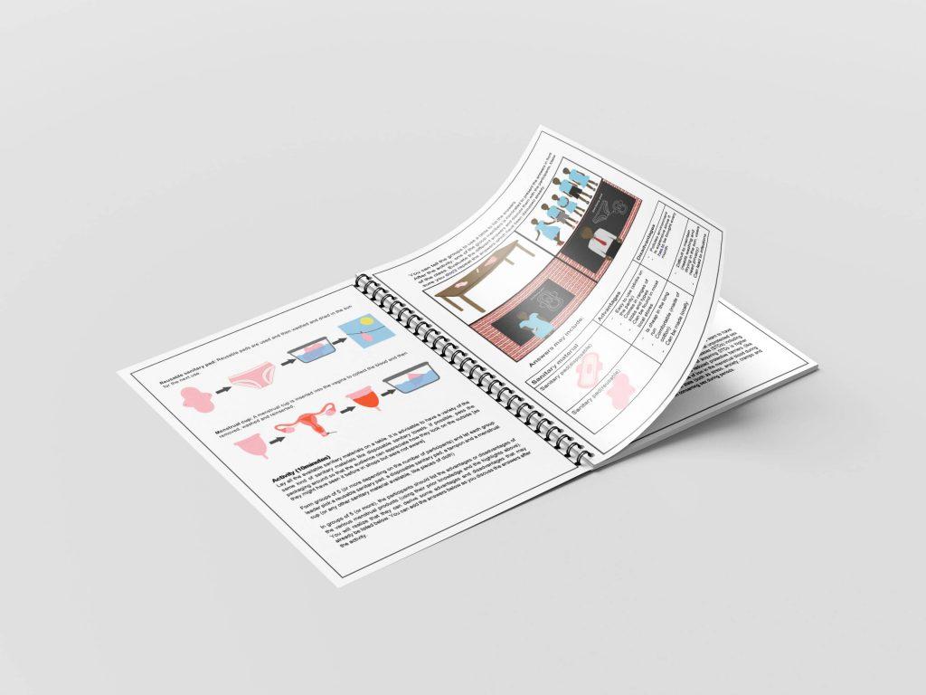 Teams4u menstruation cycle resource page mock up 2