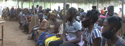 group of black women listening to speaker